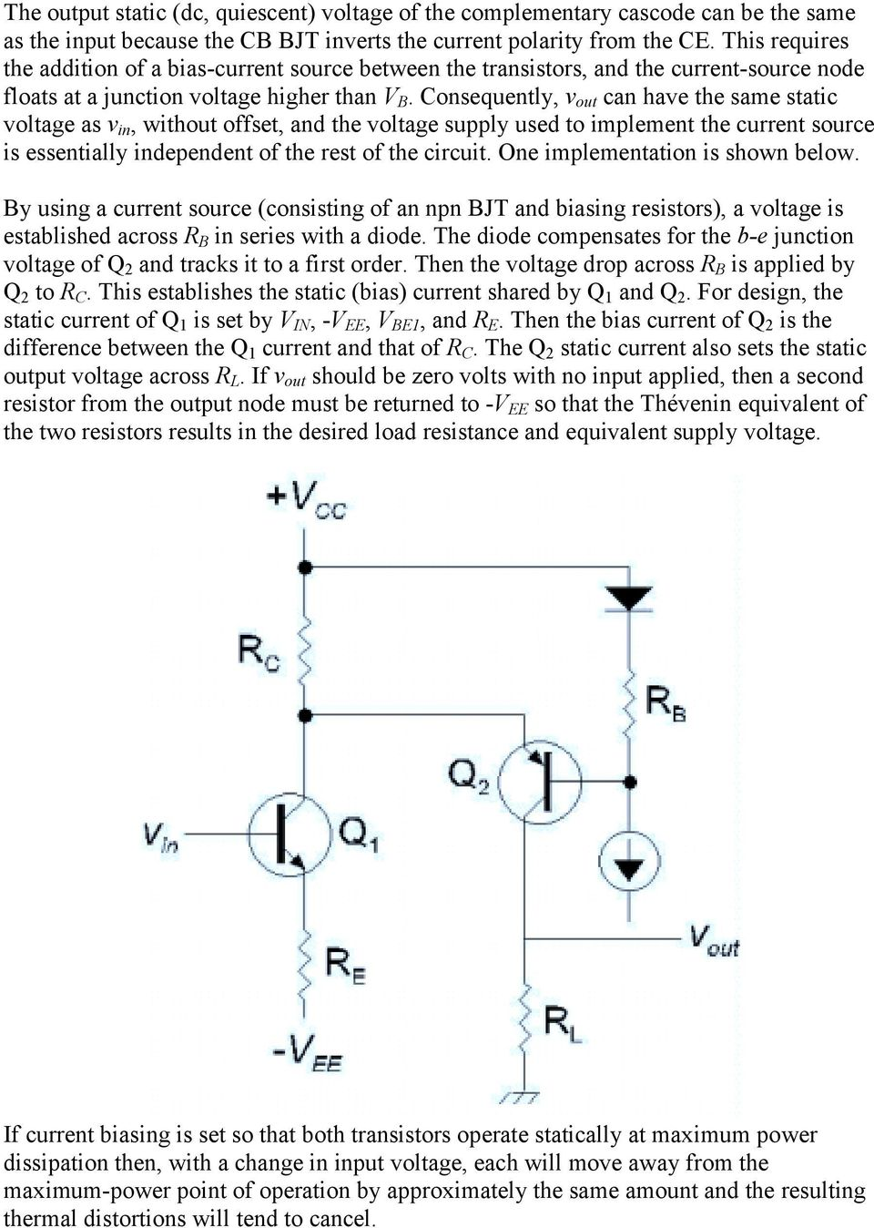Current Source Is Shown In Figures 1 2 The Bjt Mirror Basic Cascode Amplifier Consists Of An Input Common Emitter Ce Consequently V Out Can Have Same Static Voltage As Without Offset