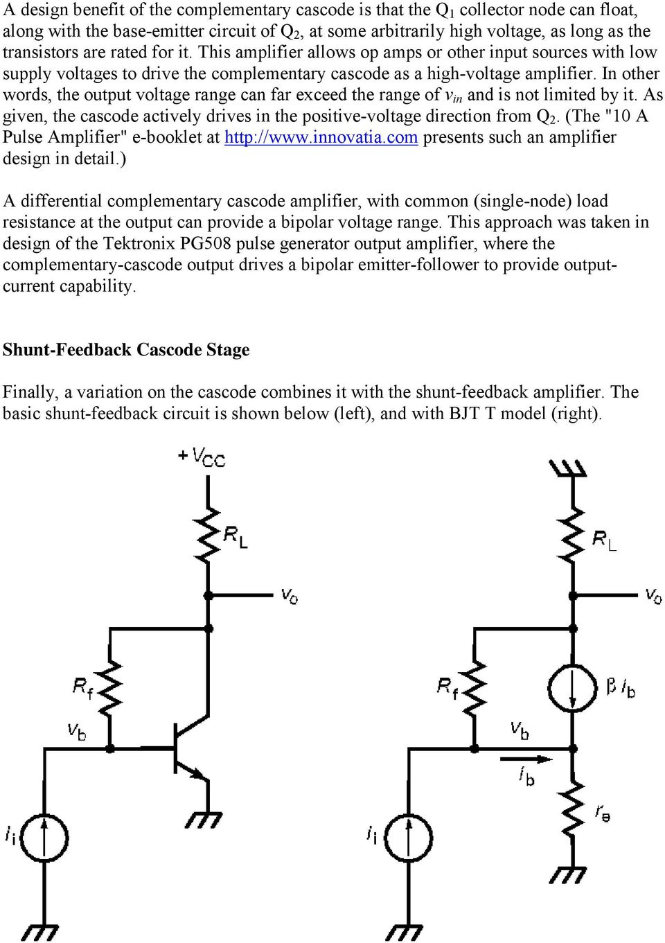 The Basic Cascode Amplifier Consists Of An Input Common Emitter Ce Follower Circuit In Other Words Output Voltage Range Can Far Exceed V