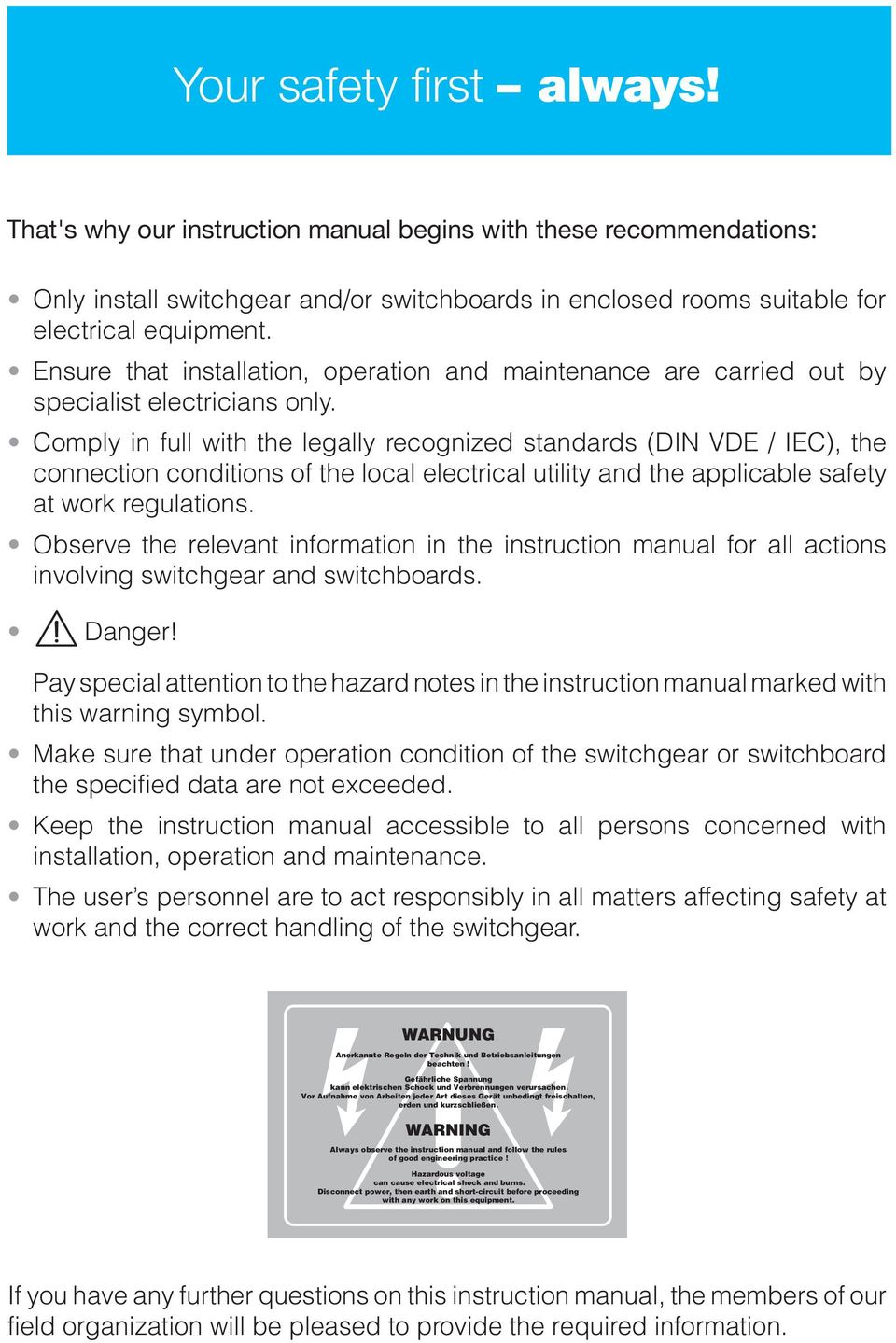 Vd4 Vacuum Circuit Breaker 36 Kv Instruction Manual Ba 434 03 E Abb Air Wiring Diagram Comply In Full With The Legally Recognized Standards Din Vde Iec