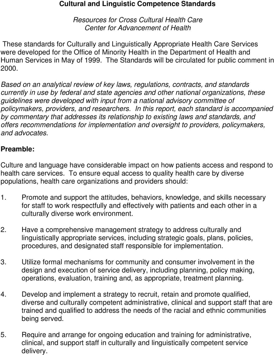 promoting cultural diversity strategies for health care professionals