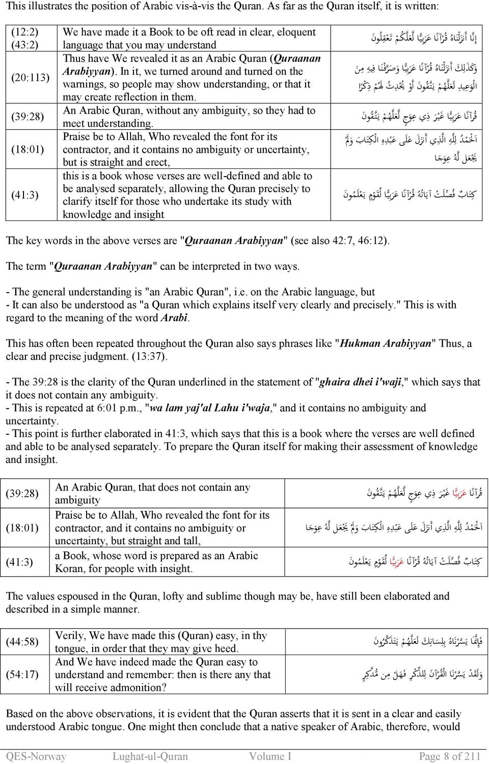 LUGHAT-UL-QURAN DICTIONARY OF QURAN VOLUME I  Ebook edition