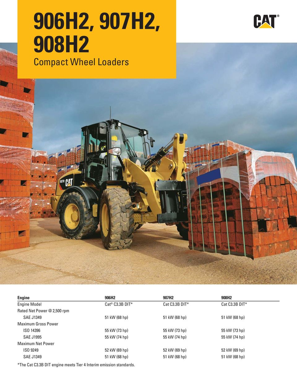 906H2, 907H2, 908H2  Compact Wheel Loaders - PDF