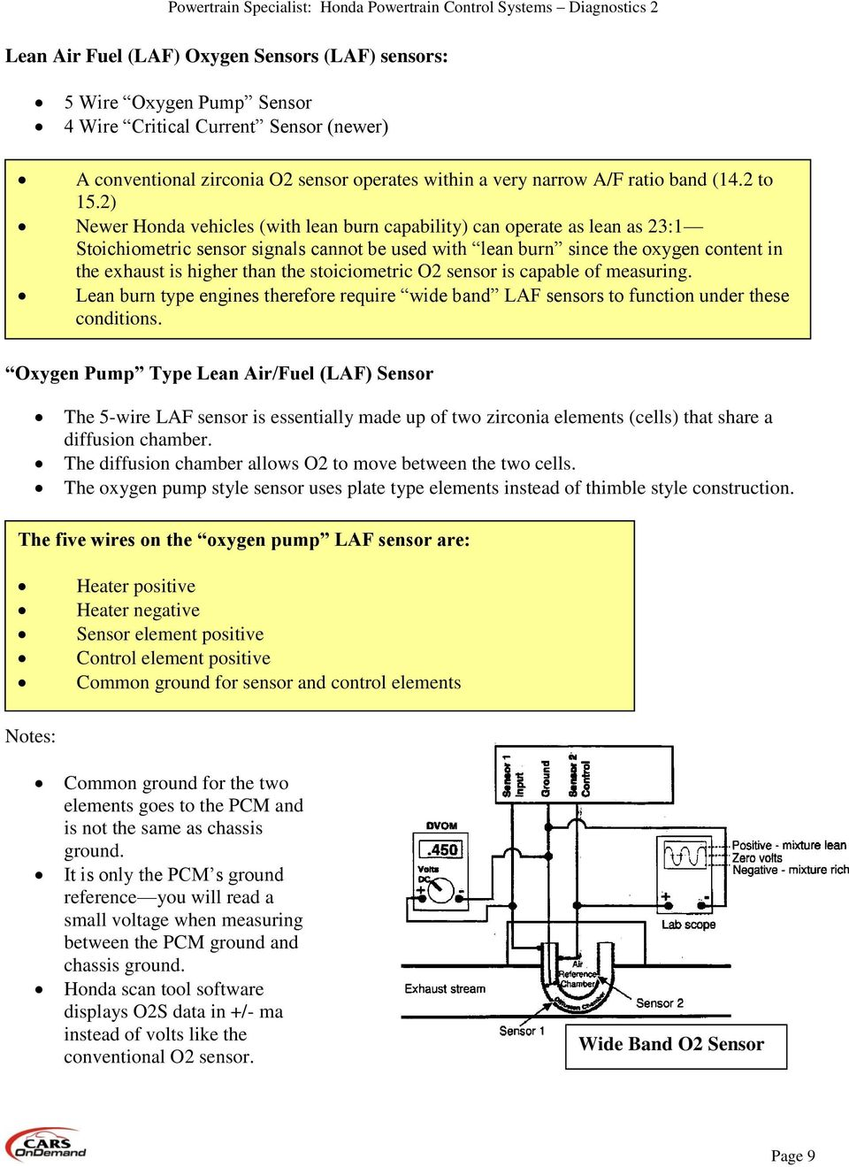 Honda Powertrain Control Systems Diagnostics Pdf 2003 Odyssey Tcc Wiring Diagram 2 Newer Vehicles With Lean Burn Capability Can Operate As