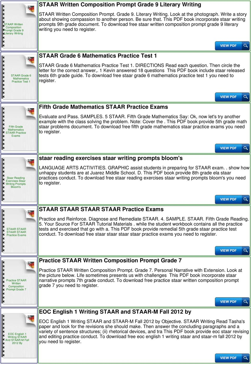 To download free staar written composition prompt grade 9 literary writing  you need to STAAR Grade