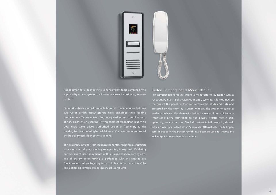 Paxton Compact panel Mount Reader - PDF