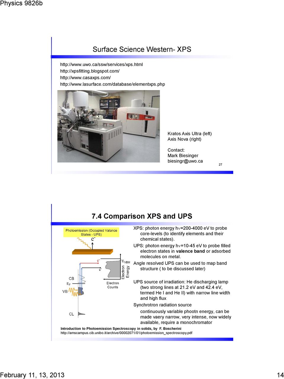 Lecture 7  X-ray Photoelectron Spectroscopy (XPS) - PDF