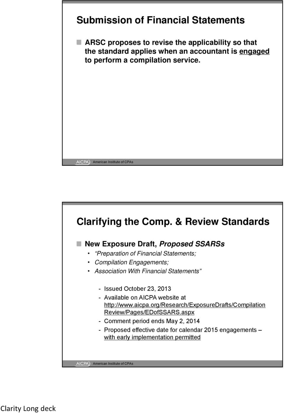 Audit, Review, Compilation, and Preparation of Financial