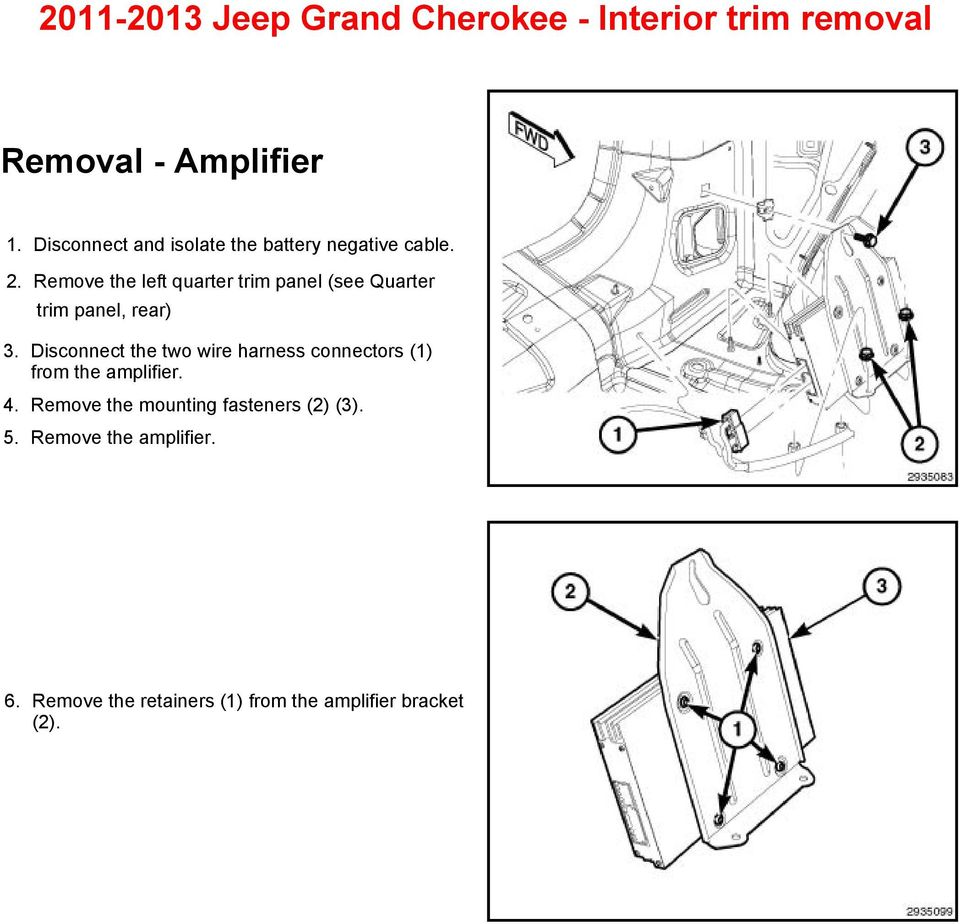 Jeep Grand Cherokee Interior Trim Removal Pdf 2013 Tundra Wiring Harness Connectors Remove The Left Quarter Panel See Rear 3