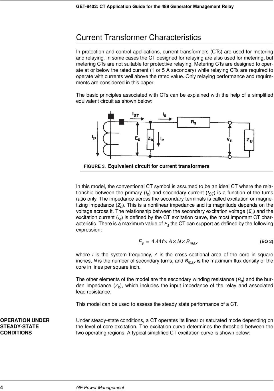 Ct Application Guide For The 489 Generator Management Relay Pdf Current Explained Metering Cts Are Designed To Operate At Or Below Rated 1 5