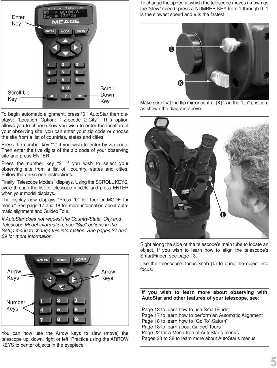 Instruction Manual Etx Premier Edition Telescope Series Autostar To Usb Wiring Diagram This Option Allows You Choose How Wish Enter The Location Of Your Observing
