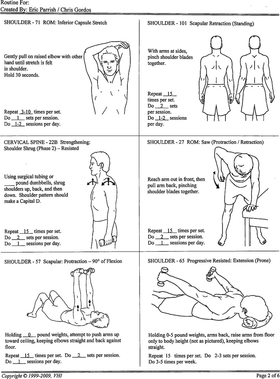 Shoulder Stretching and Strengthening - PDF