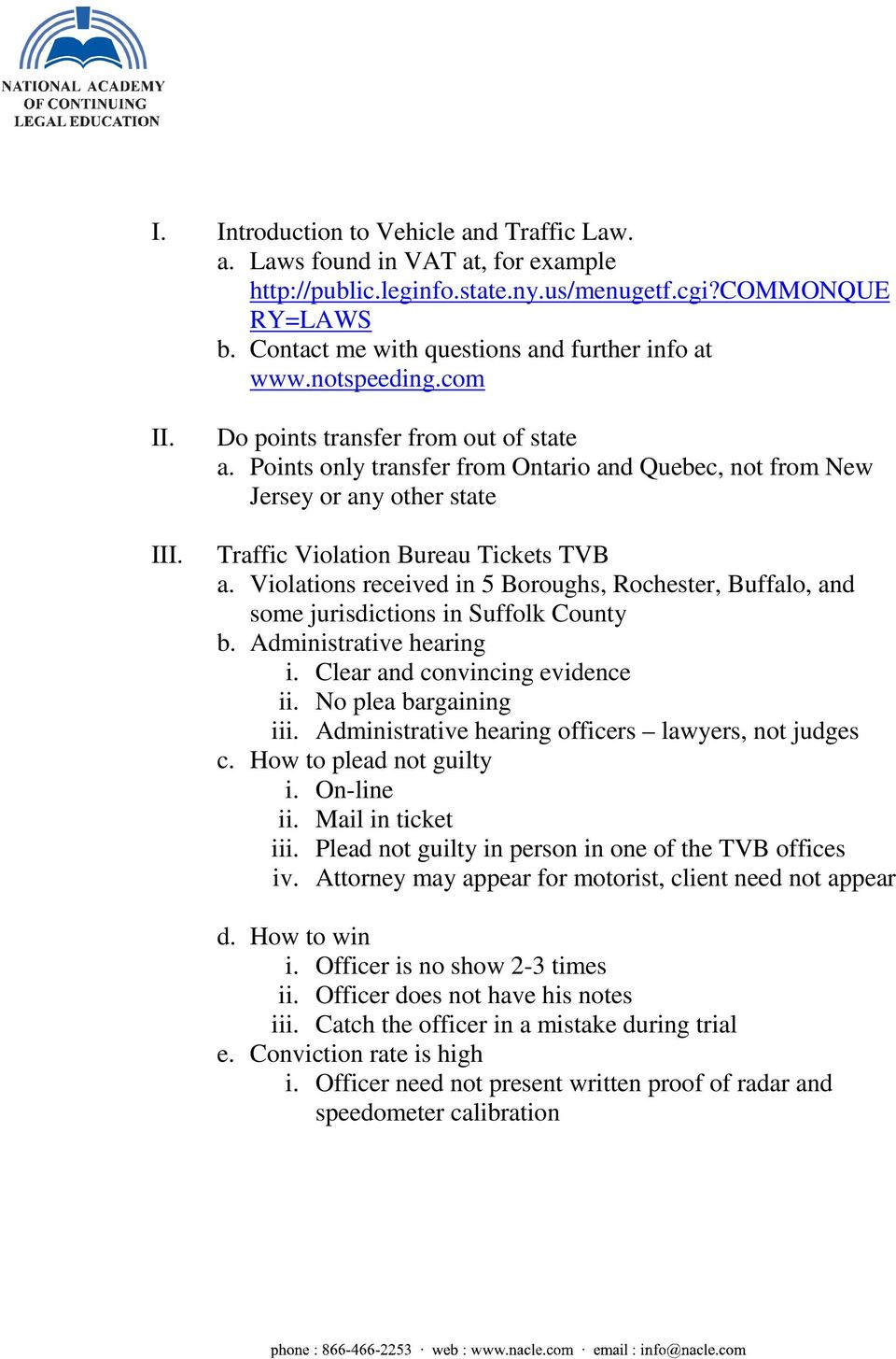 Nyc Traffic Ticket >> Defending A Traffic Ticket In New York Pdf