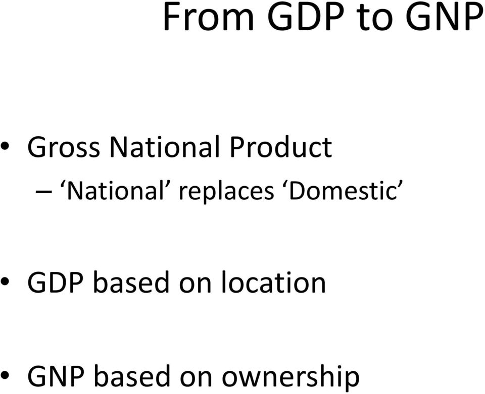 replaces Domestic GDP based