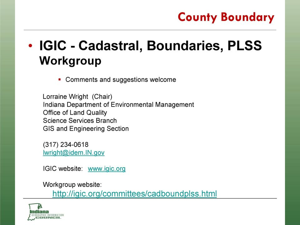 Building an Authoritative GIS Statewide County Boundary file