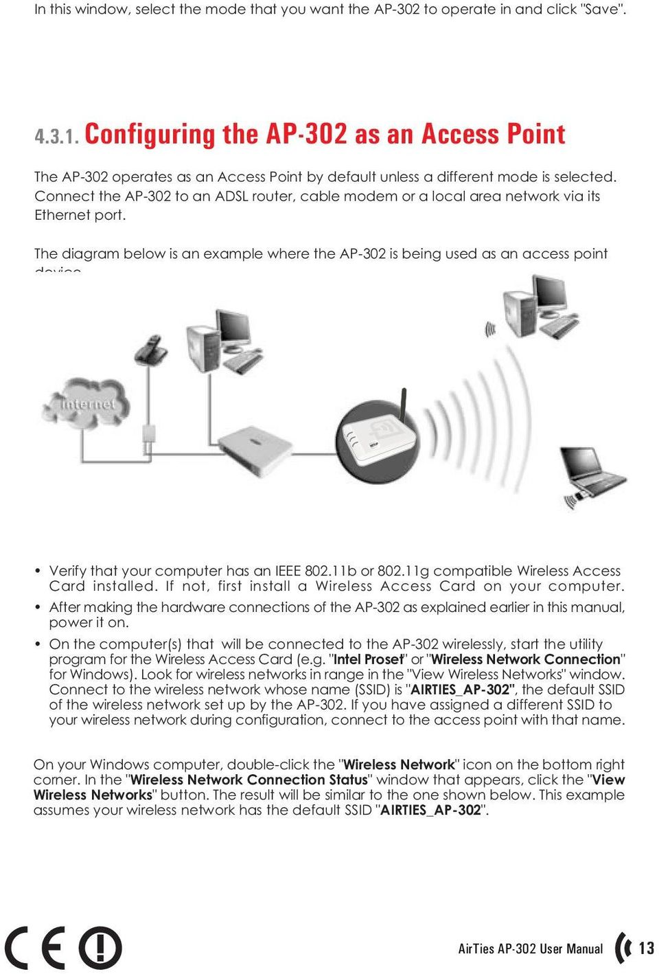 This Manual Has Been Prepared By Airties Wireless Networks Diagram Besides Router Hook Up As Well Poe Ether Connect The Ap 302 To An Adsl Cable Modem Or A Local Area