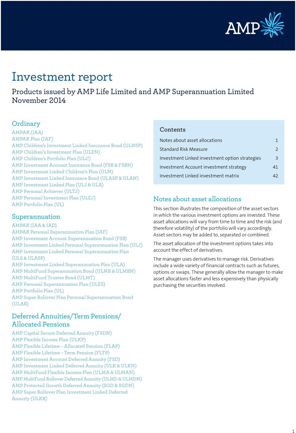 Amp bonds investment options
