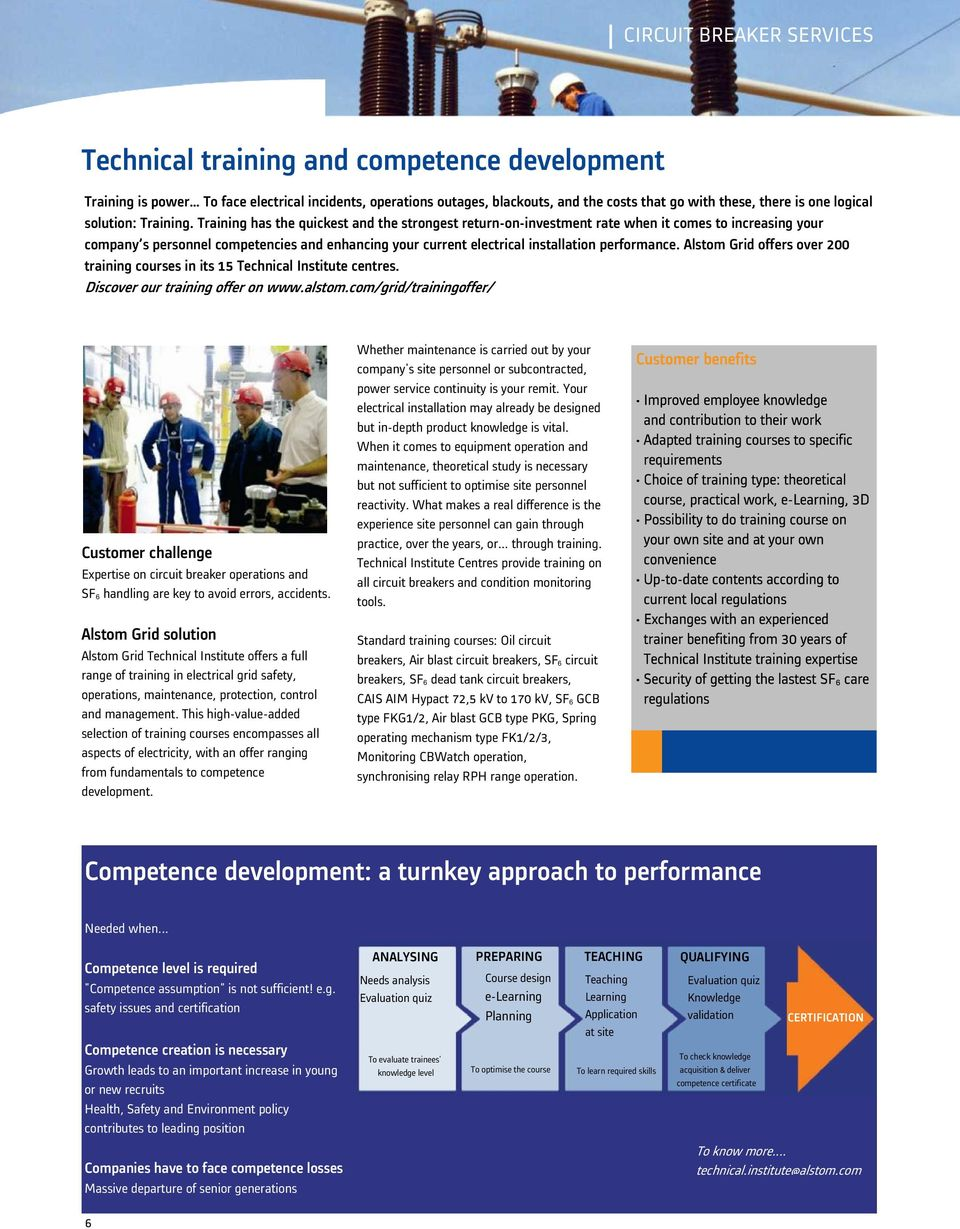 Alstom Grid Services Circuit Breaker Lifecycle Management Pdf How To Build A Smart Automotive Permanent Solution Offers Over 200 Training Courses In Its 15 Technical Institute Centres Discover Our