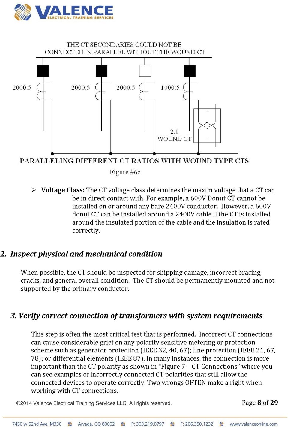 Back To The Basics Current Transformer Ct Testing Pdf With Step Down Wiring Diagram On Variac Diagrams 00v Cable If Is Installed Around Insulated Portion Of And 9 2014 Valence Electrical