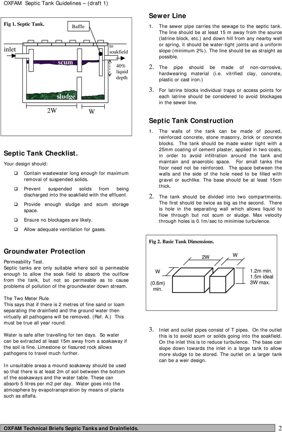 Septic tanks: types, selection criteria