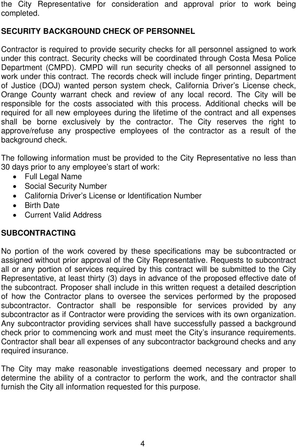 REQUEST FOR PROPOSAL FOR MUNICIPAL FACILITY HVAC MAINTENANCE AT