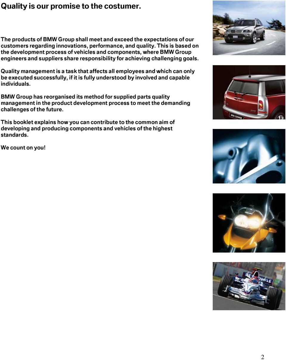 Bmw Group Supplied Parts Quality Management Pdf