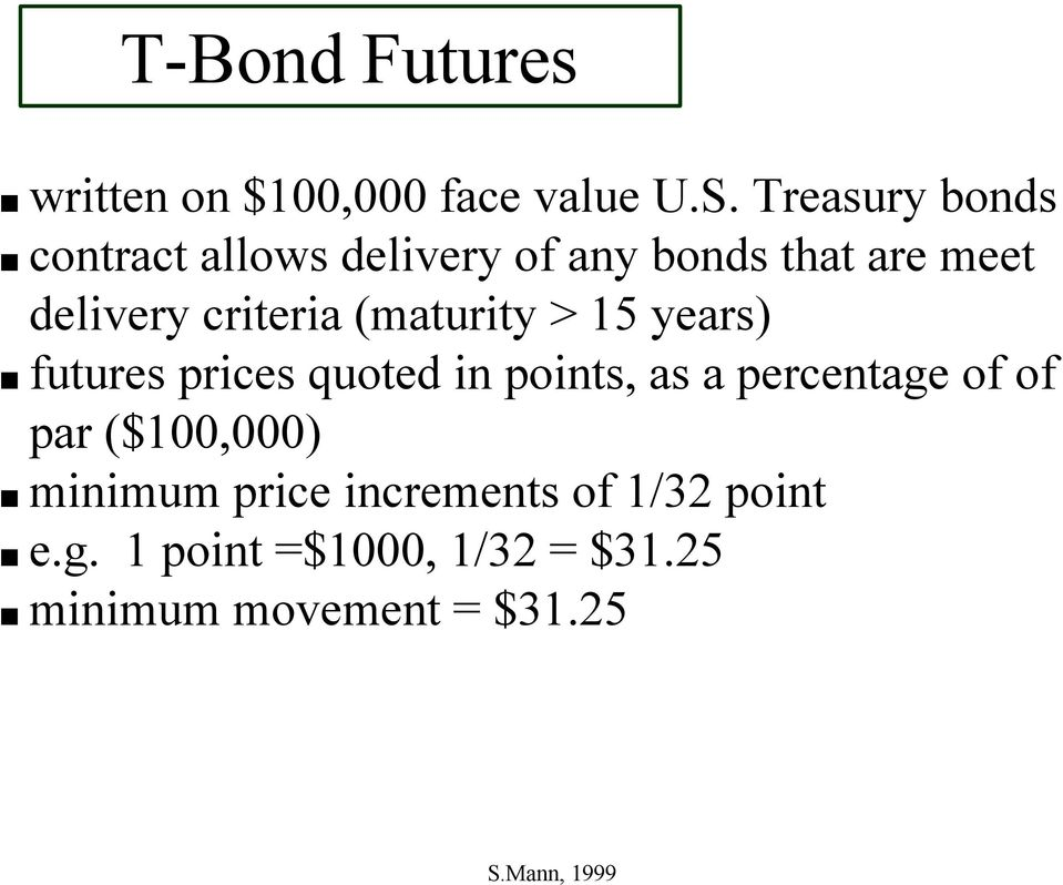 Hedging Strategies with Treasury Bond Futures - PDF