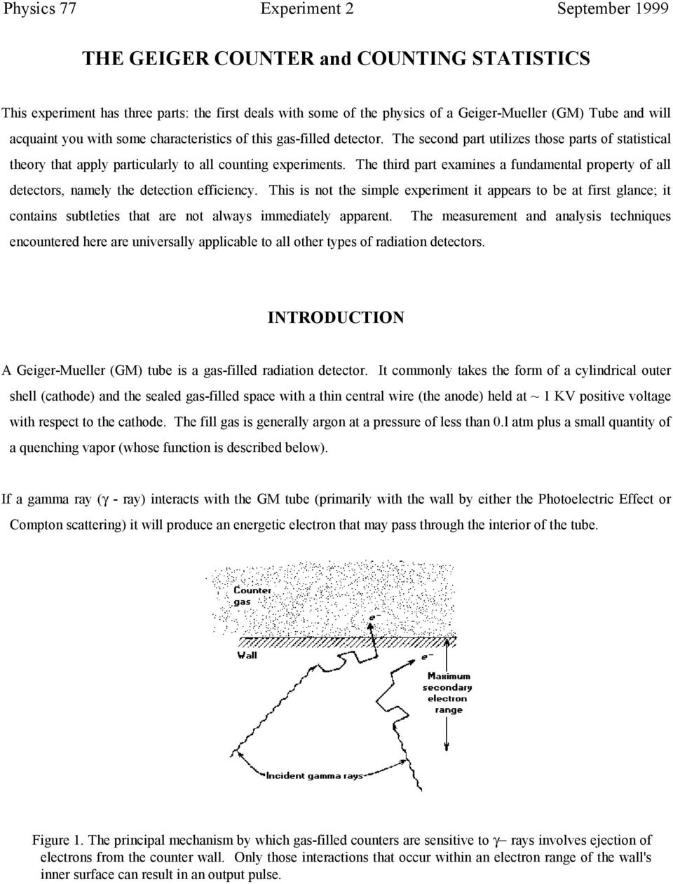 The Geiger Counter And Counting Statistics Pdf Geigercountercircuit Measuringandtestcircuit Circuit Diagram Third Part Examines A Fundamental Property Of All Detectors Namely Detection Efficiency