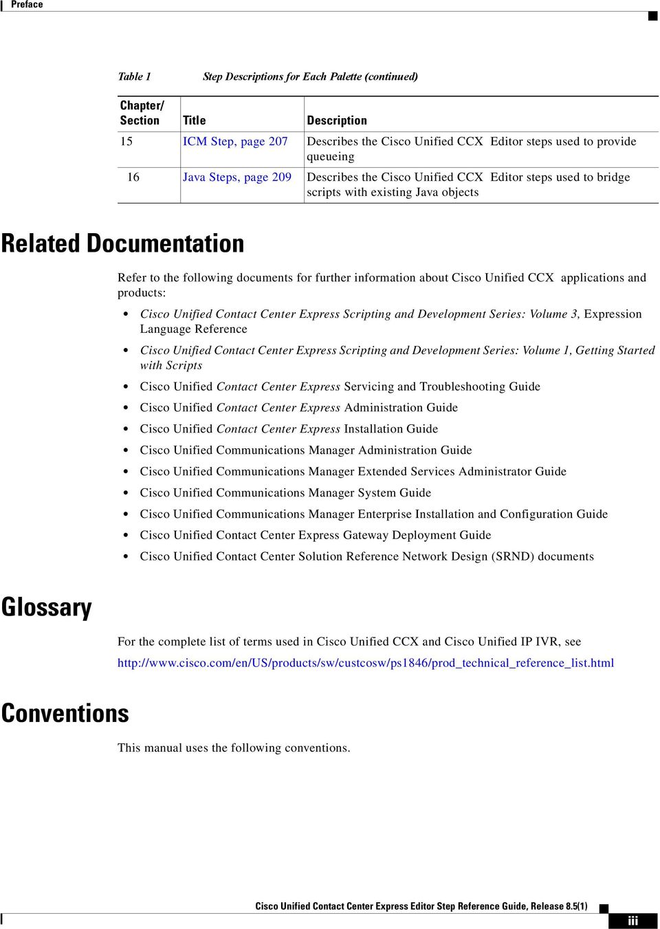 Cisco Unified Contact Center Express Editor Step Reference