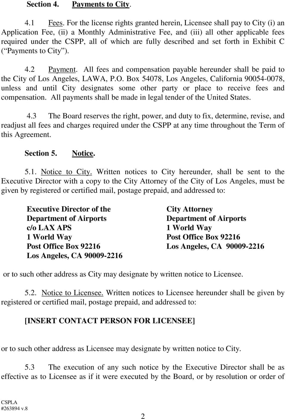 CERTIFIED SERVICE PROVIDER LICENSE AGREEMENT BETWEEN CITY OF