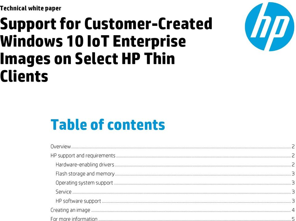 Support for Customer-Created Windows 10 IoT Enterprise