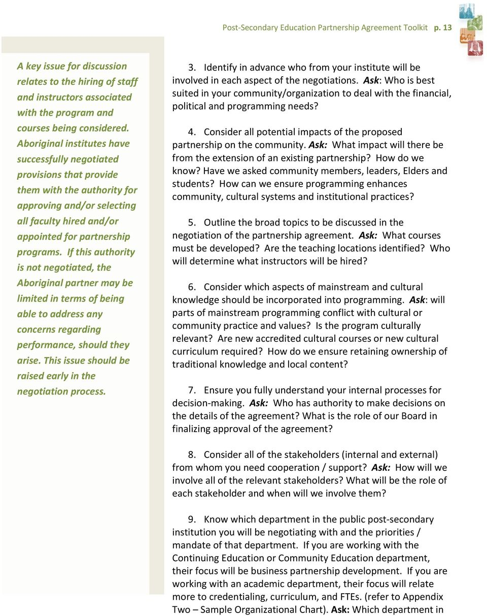 Post Secondary Education Partnership Agreement Toolkit Pdf