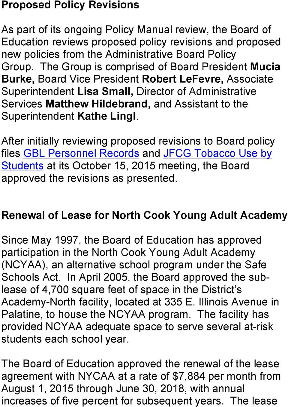 North cook young adult