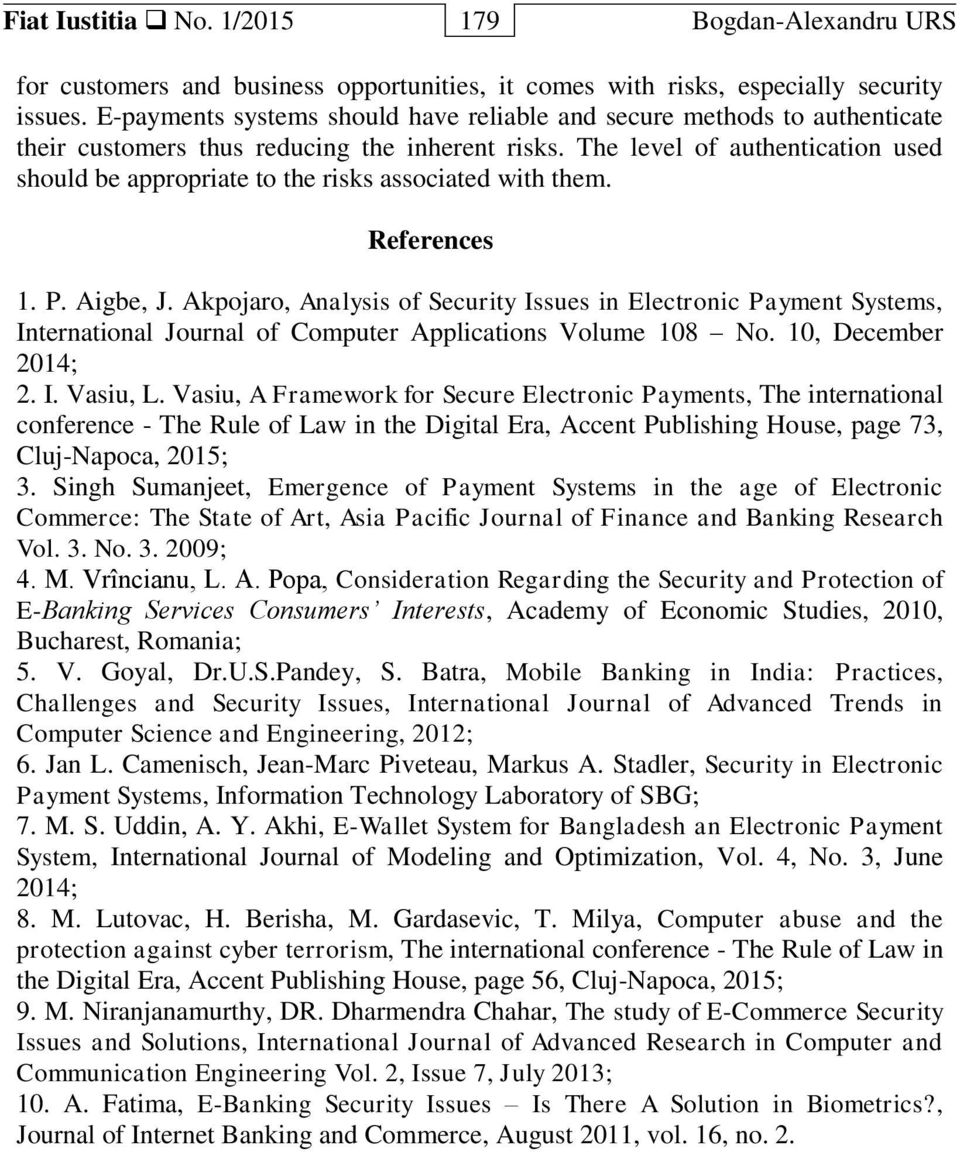 Security Issues And Solutions In E Payment Systems Pdf Free Download