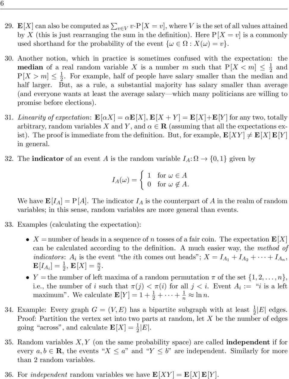 Introduction to probability theory in the Discrete