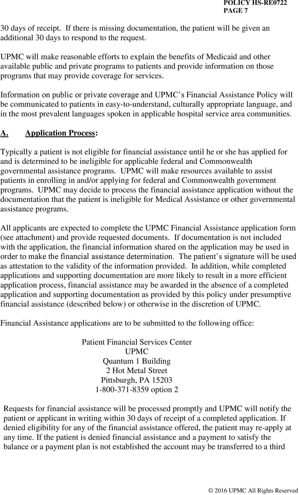 UPMC POLICY AND PROCEDURE MANUAL - PDF