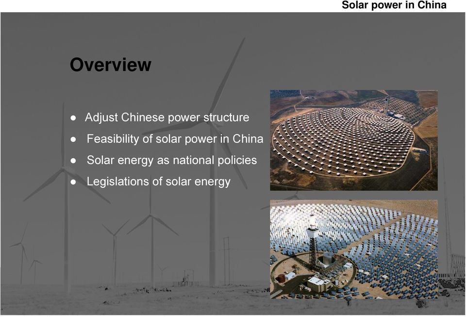 power in China Solar energy as