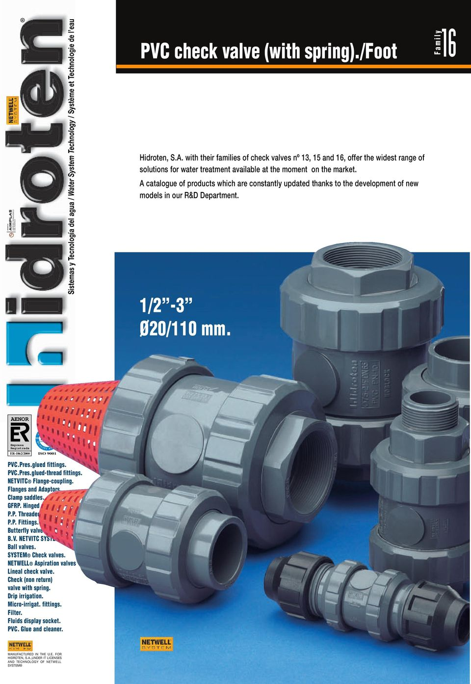 PVC check valve (with spring)./foot - PDF