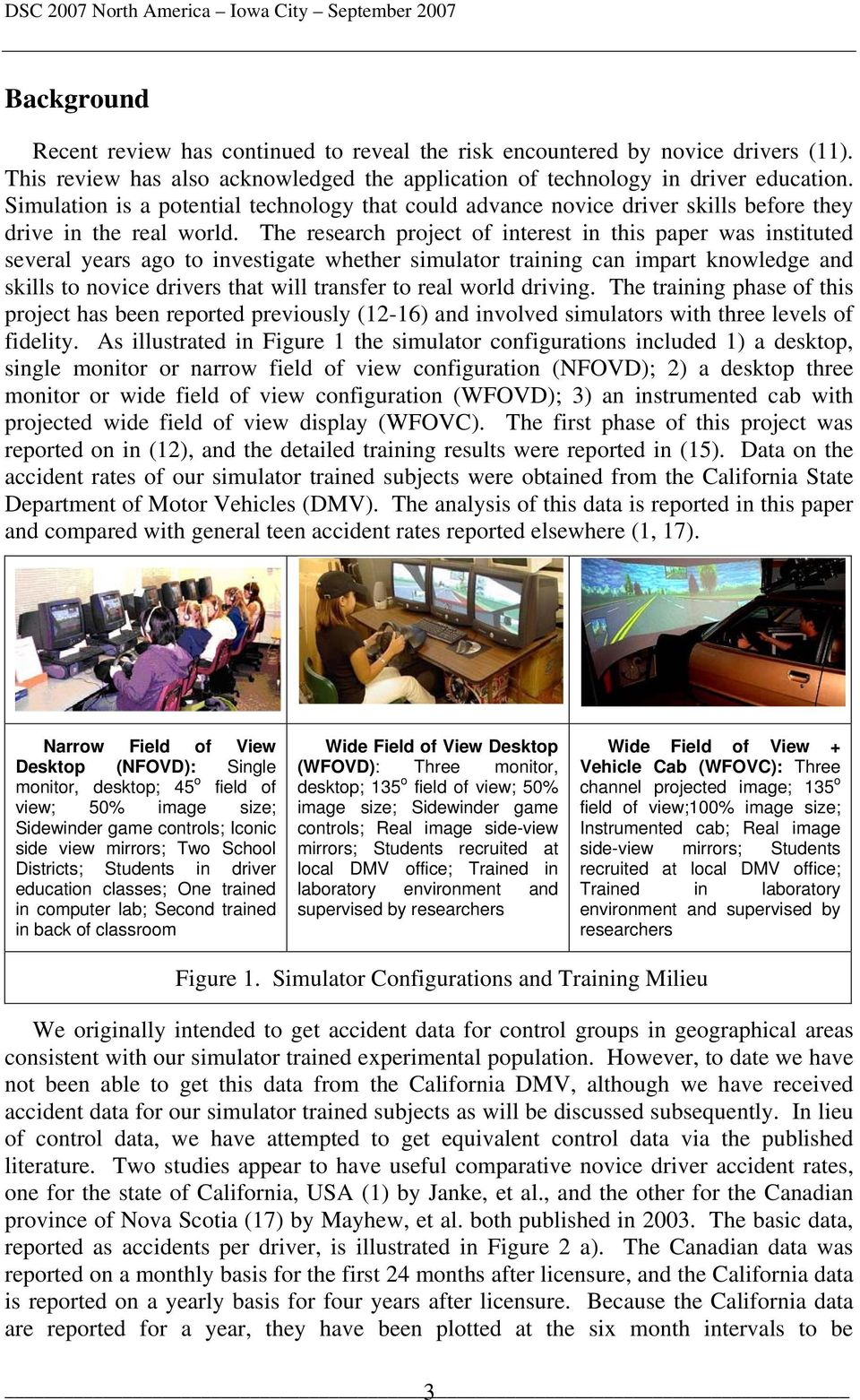 The Effect of Driving Simulator Fidelity on Training