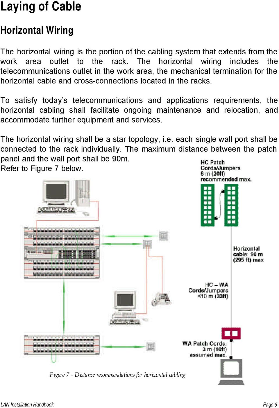 Lan Installation Handbook Pdf Ethernet Plug Wiring Arrange Wires Per Eiatia T568b To Satisfy Today S Telecommunications And Applications Requirements The Horizontal Cabling Shall Facilitate Ongoing Maintenance