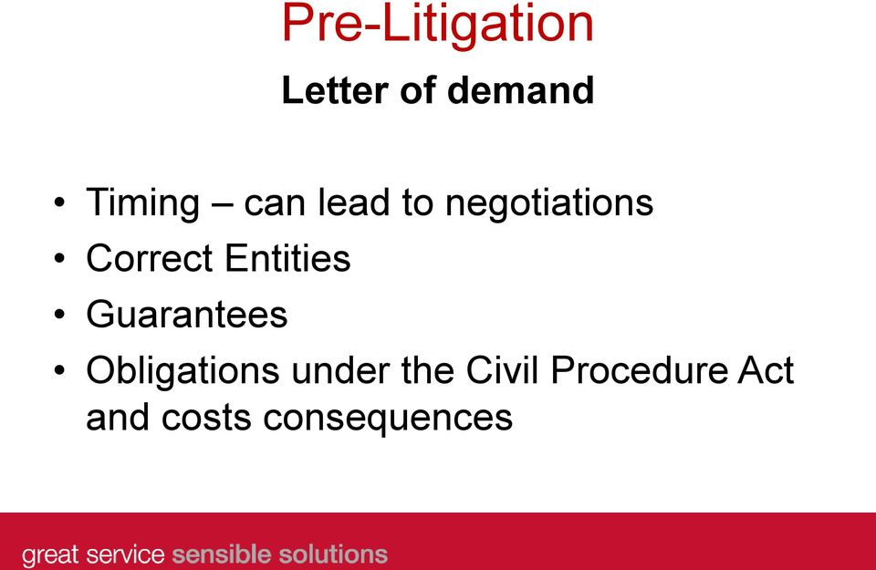 Entities Guarantees Obligations under