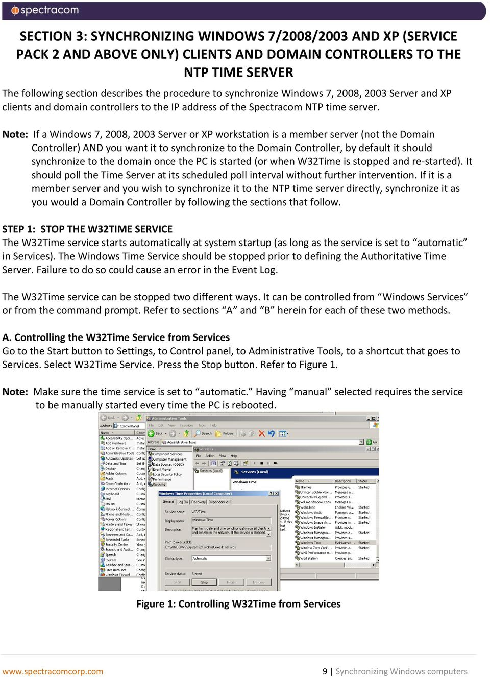 Note If A Windows 7 2008 2003 Server Or XP Workstation Is