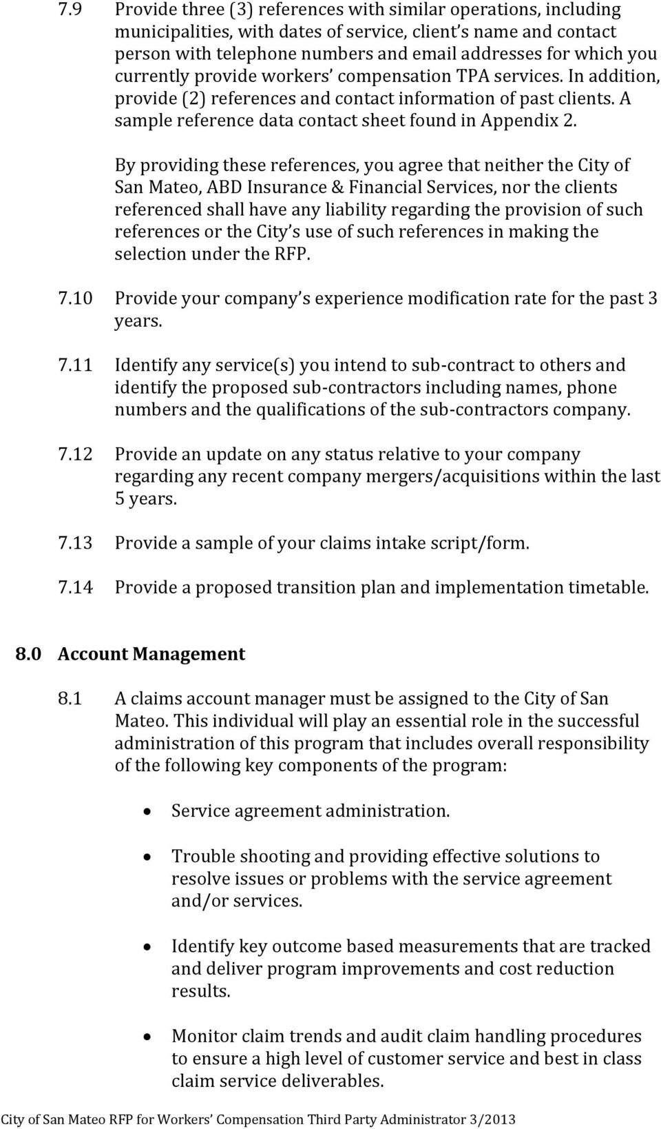 By Providing These References You Agree That Neither The City Of San Mateo ABD