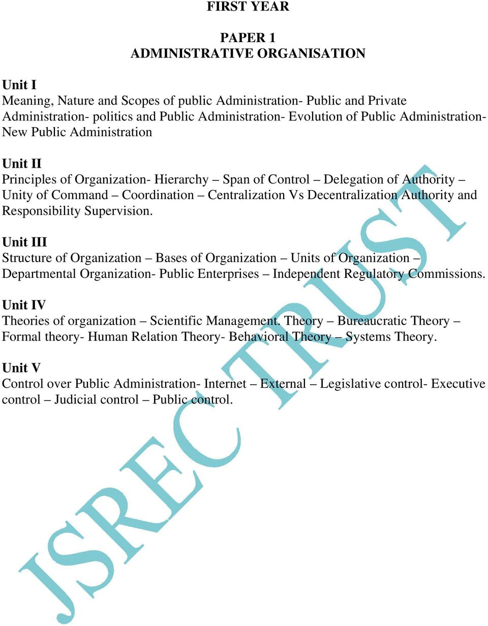 scientific management theory of public administration