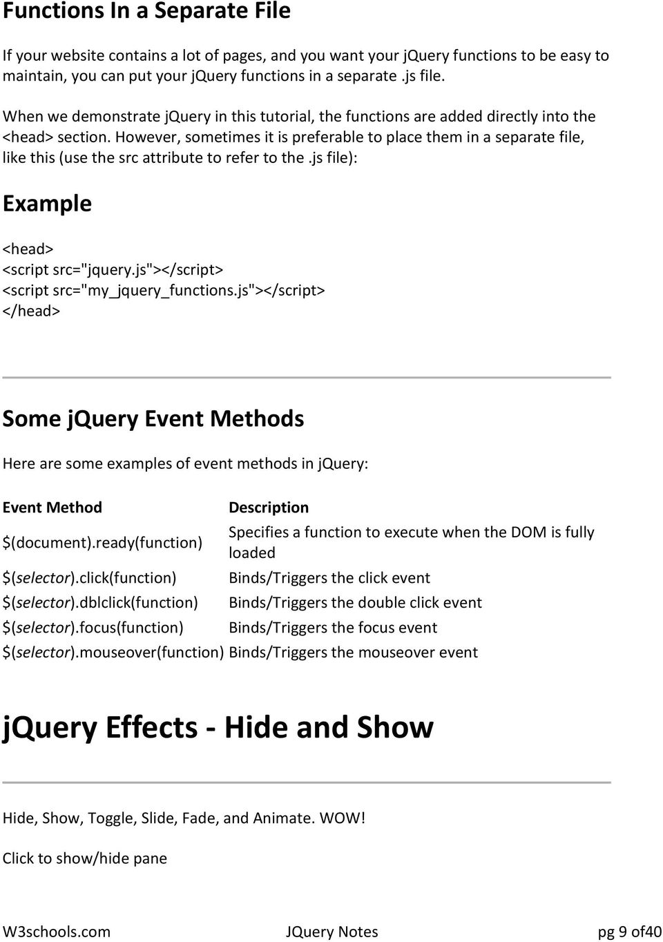 The purpose of jquery is to make it much easier to use