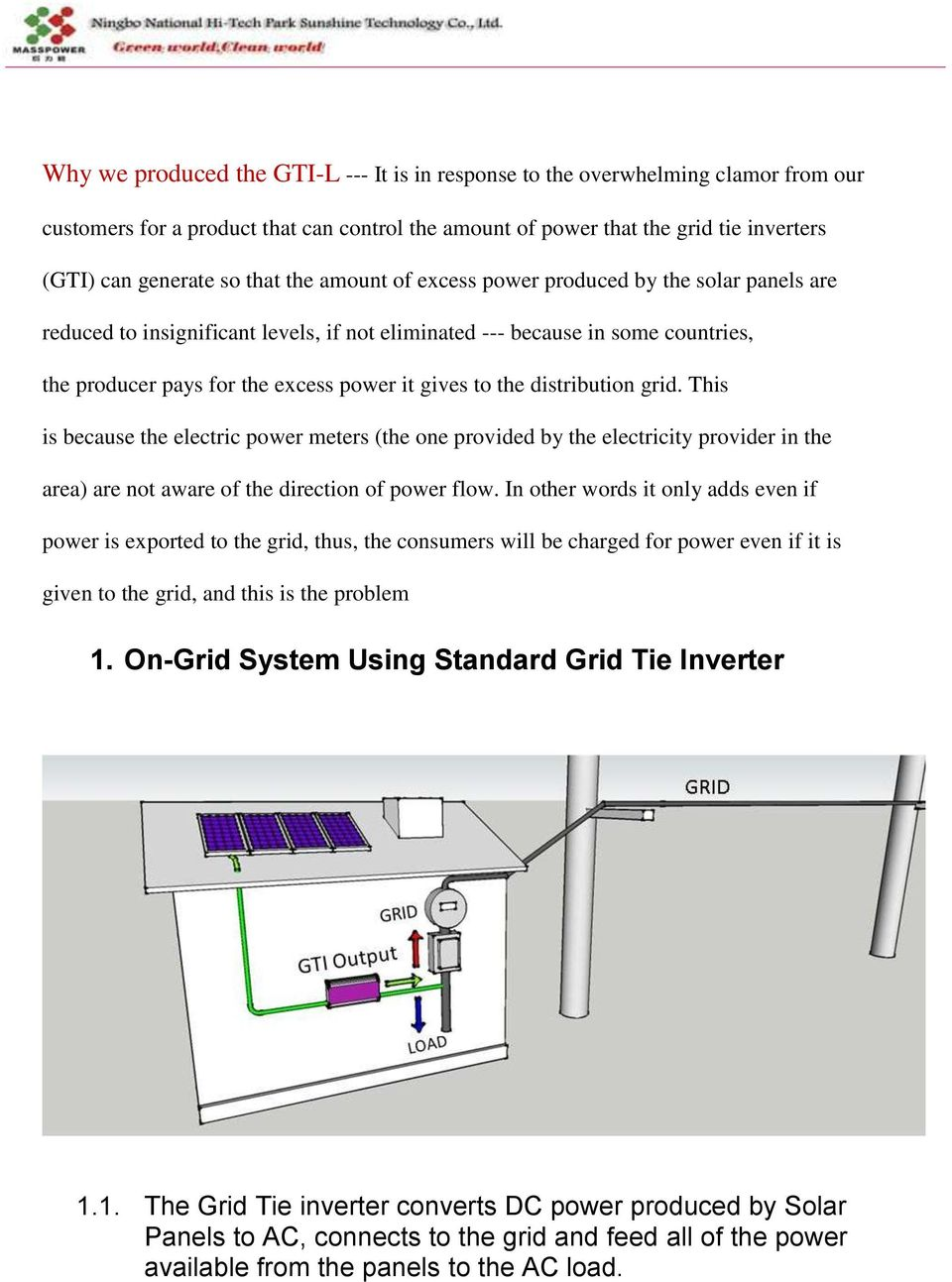 User Manual Of Grid Tie Inverter With Limiter Pdf Solar Garden Light Circuit Further 5000 Watt Power Schematic This Is Because The Electric Meters One Provided By