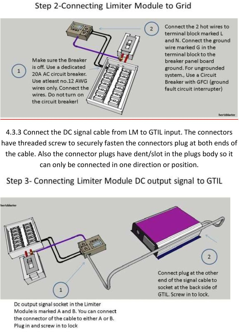 User Manual Of Grid Tie Inverter With Limiter Pdf Wiring Dc Circuit Breakers Plug At Both Ends The Cable