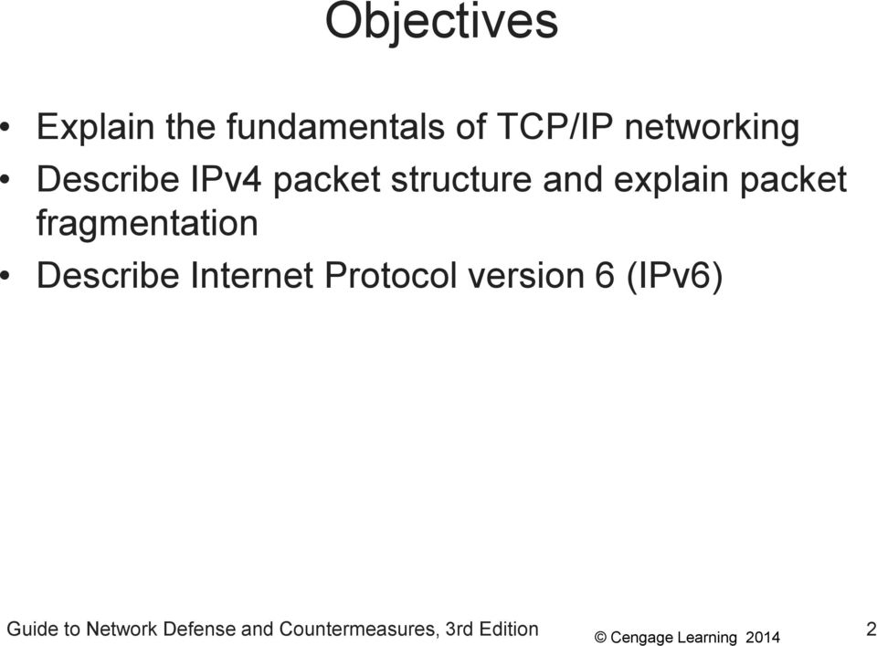 packet fragmentation Describe Internet Protocol version