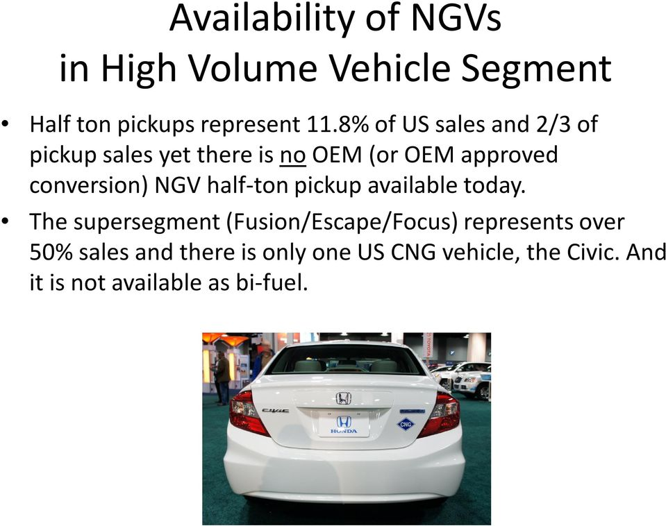 NGV half-ton pickup available today.