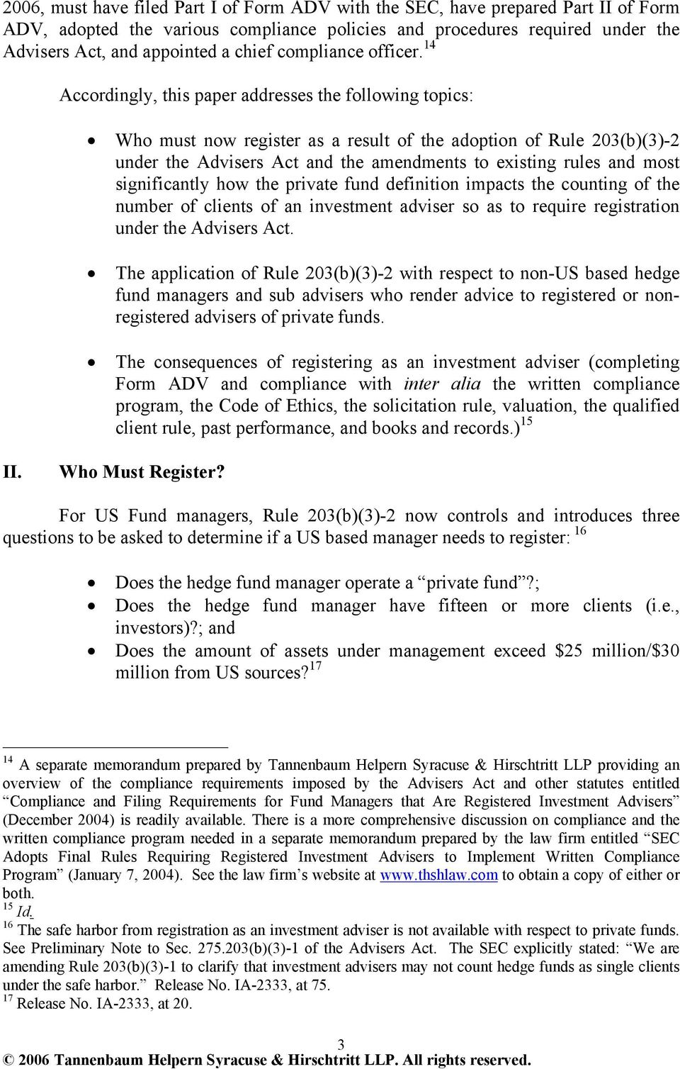 sec investment adviser registration for hedge fund managers the