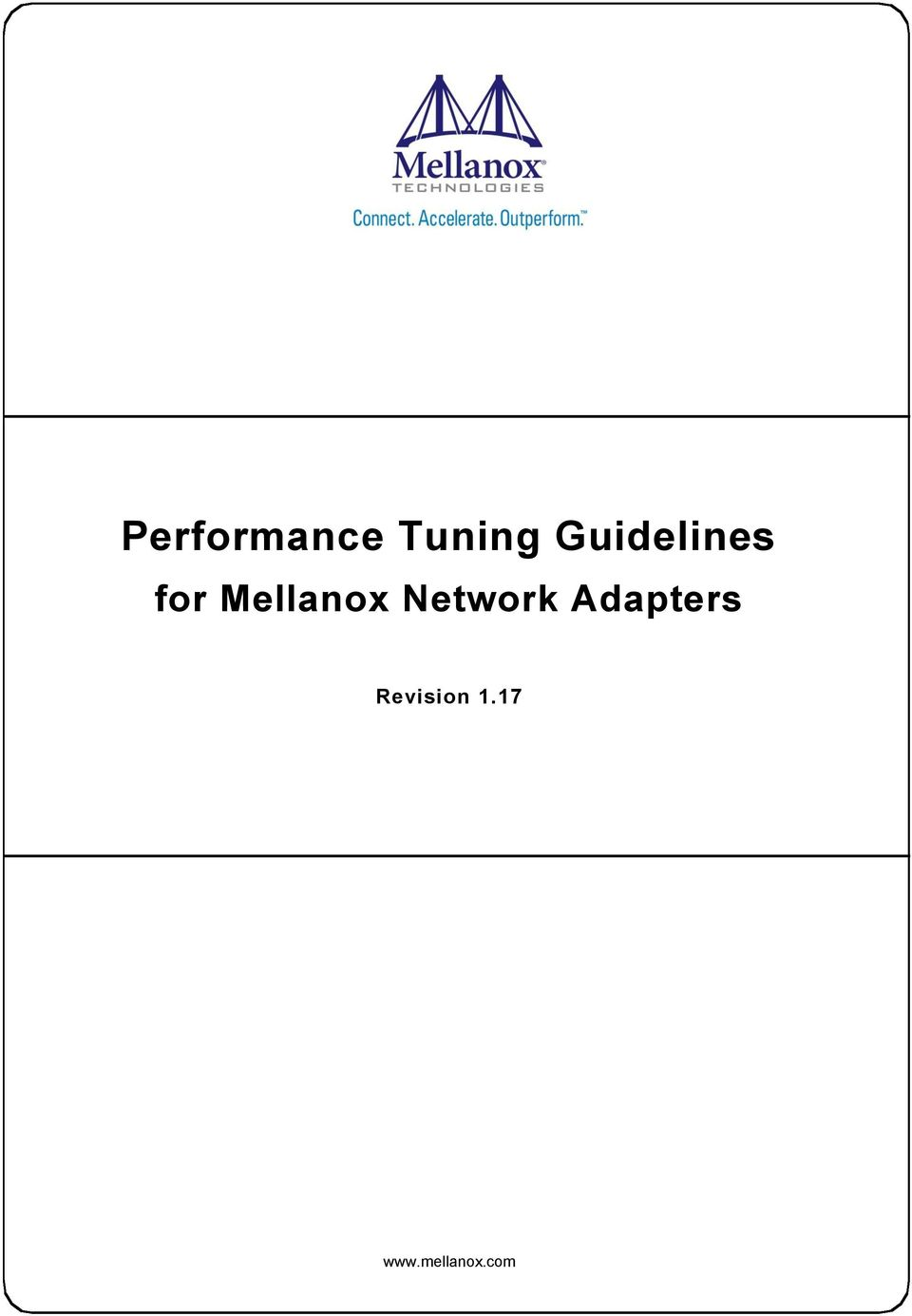 Performance Tuning Guidelines - PDF